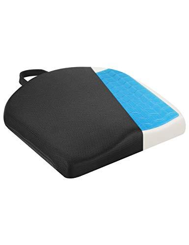 Tsumbay Orthopädisches Sitzkissen mit Gel, Ergonomisches Memory Foam Sitzkissen , Natürliches Sitzen, entlastet Rücken & erhöht Sitzkomfort für Büro, Home Office, Rollstuhl & Auto Druckentlastend