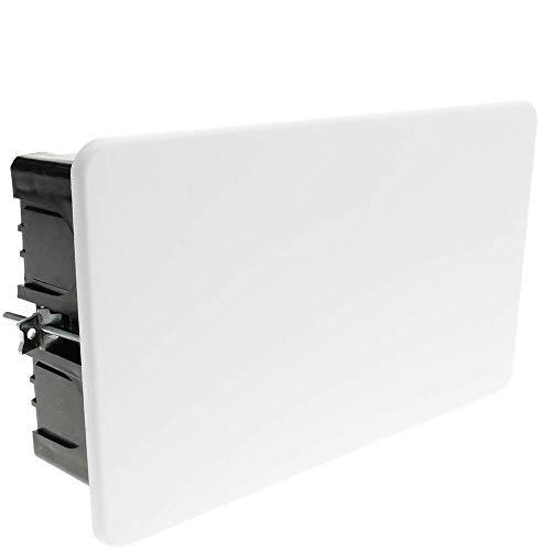 BeMatik - Caja empotrada de Registro Rectangular 200 x 130 x 60 mm para Paredes Huecas