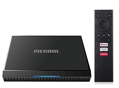 Mecool KM6 Classic ATV Google Certified Android 10 Amlogic S905X4 2.4GHz WiFi 100M 2GB 16GB 4K H.265 Media Player con Tastiera i8