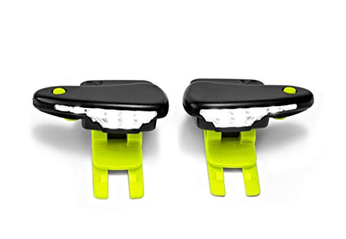 Night Runner 270 Shoe Lights - Rechargeable & Waterproof Battery Light for Runners, Dog Walking, Hiking - Best Safety Running Gear for High Visibility at Night Time or Low Light - Green