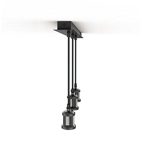 Triple suspension allongée ajustable pour ampoules à culot E27