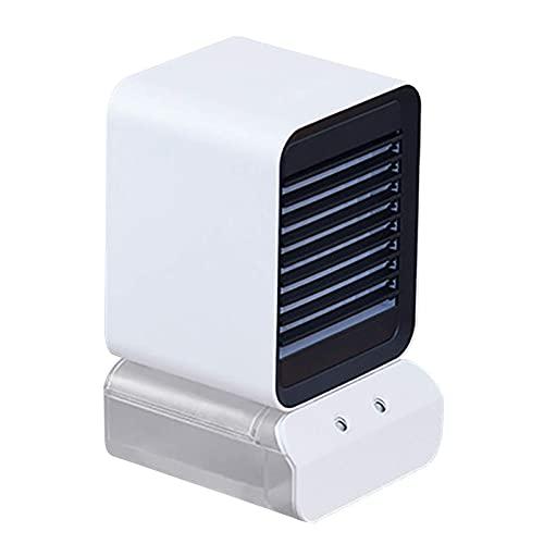 ZHOUJ Ventilador de Aire Acondicionado portátil, Mini refrigerador de Aire evaporativo Ventilador de Escritorio Tranquilo, Escritorio Aire Acondicionado Ventilador USB Carga