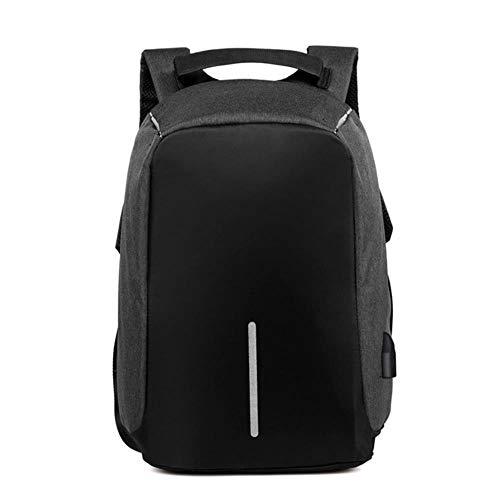 1 stks anti-diefstal tas mannen laptop rugzak rugzak vrouwen grote capaciteit zakelijke usb lading student school schoudertassen, zwart