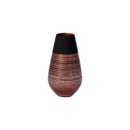 Villeroy & Boch Manufacture Swirl Vaso Grande, Cristallo, Nero/Bronzo, 18 cm