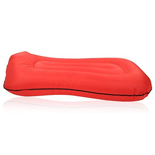 Eulbevoli Saco de Dormir, Material Grueso de la Cama Inflable del diseño ergonómico del diseño Inflable Que acampa para al Aire Libre(Red)