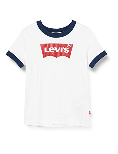 Levi's Kids Lvb Batwing Ringer Tee Camiseta White para Niños