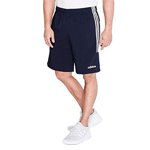 adidas Essentials 3-Stripes Herren Chelsea Athletic Laufshorts (Navy/Weiß, M)