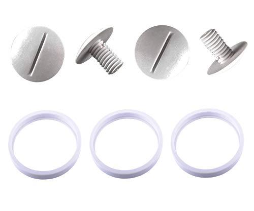 Poweka Neumáticos de Repuesto Adaptables C10 con C55 Tornillo de Rueda Plástico Compatible con Robot Limpiafondos Piscina Polaris 180 280 360 380