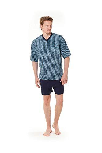 Hajo - Pigiama da uomo in cotone Blu a zig-zag XXXX-Large