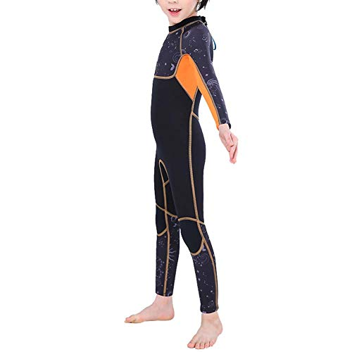 CUEA Traje de Neopreno para niños, Traje de Buceo para niños de Buena Elasticidad con diseño de Cremallera Trasera para Deportes acuáticos y Actividades subacuáticas para niños(L)