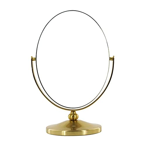 HGDM Espejo De Maquillaje Espejo De Aumento De Maquillaje, Espejo Cosmético Eslabón Giratorio De 360 ° Mesa Independiente Afeitado Espejo De Mesa De Doble Cara