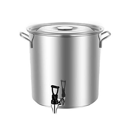 Ollas rectas Cubo de sopa de acero inoxidable de acero inoxidable de...