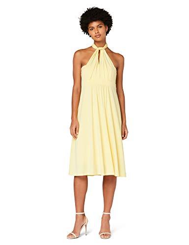 Amazon-Marke: TRUTH & Fable Damen Hochzeitskleid Multiway Midi, Gelb (hellgelb), 38, Label:M