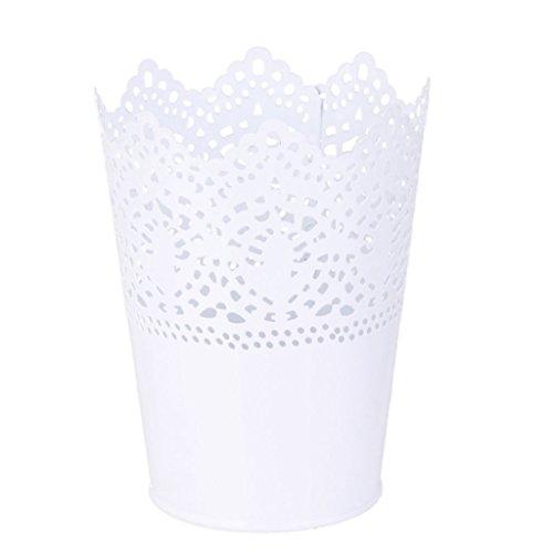 Plant Vase, Befaith Cut Out Plant Vase Pot Pen Makeup Brush Holder Desk Tidy Organiser, White