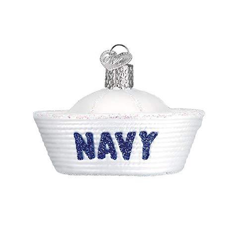 Old World Christmas Navy Cap Ornament, Multi