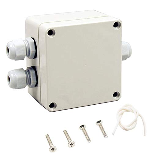SamIdea(TM) 83x81x56mm 1In 2Out Waterproof Electric Junction Project Box With 6 Position 15A Barrier Terminals,PG9 Cable Glands,White Gray