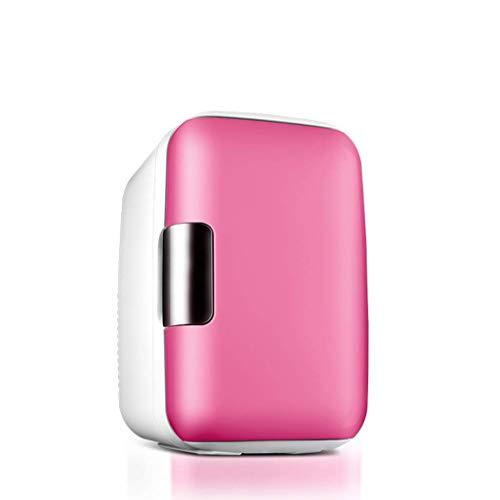 ZKDX Nevera portátil 6L Mini refrigerador del refrigerador del congelador y Calentador TG for el Coche del Recorrido del hogar Comida campestre Que acampa, Azul (Tamaño: Azul) MXY (Color : Pink)
