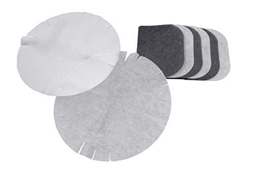 vhbw Filter Set, Aktivkohlefilter + Papierfilter + Fettdunstfilter passend für Fritteuse DeLonghi D8, F28311, F891, F895 ersetzt F8-F1000, 5525101500