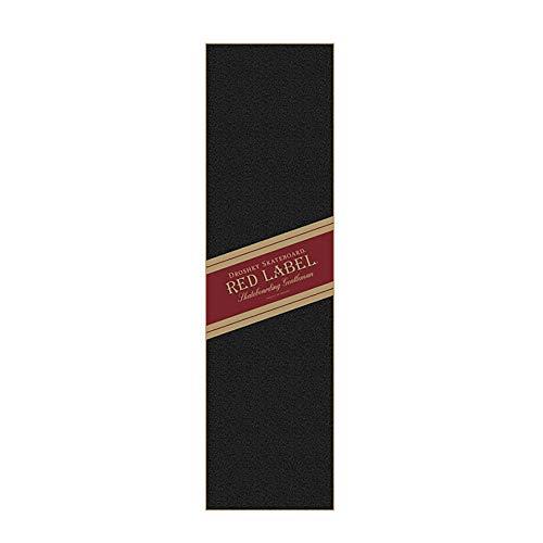 Feuille de ruban adhésif noir pour skateboard - 23 cm x 83 cm - Sans bulles - Imperméable - Pour escalier - Pédale d'escalier - 0717
