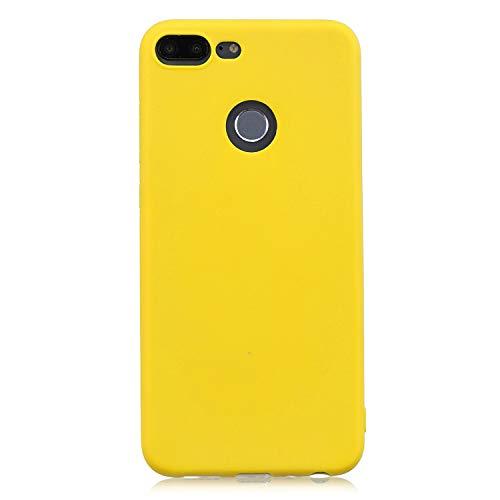 cuzz Huawei Honor 9 Lite Hülle Hülle+{1 x Panzerglas Schutzfolie} Silikon Schutzhülle Handyhülle,Outdoor Stoßfest Schutzhülle Schmaler Handyschutz,Staub & Scratch-Stoßfest-Gelb