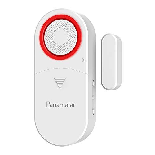 Panamalar Kabellose WLAN Türfenstersensor, Niedriger Energie Tür&Fensteralarm Eingebaute Sirene kompatibel mit Alexa und Google Assistent, Auto Erkennung passt für Tür/Fenster/Schränke/Wohnungen/Büro