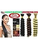 Deep Bulk Braiding Hair, Human Hair blend, Micro Braids, Hot Selling, Length 18', 2 PACKS Color #4 Chocolate Brown