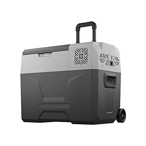 JMSL Neveras de Viaje-Refrigerador de Coche-Mini congelador compresor portátil-12/24V 240V-para Hogar Aire Libre Camping,Frigoríficos para Coche, camión, Barco -20℃ to 20 ℃,50L