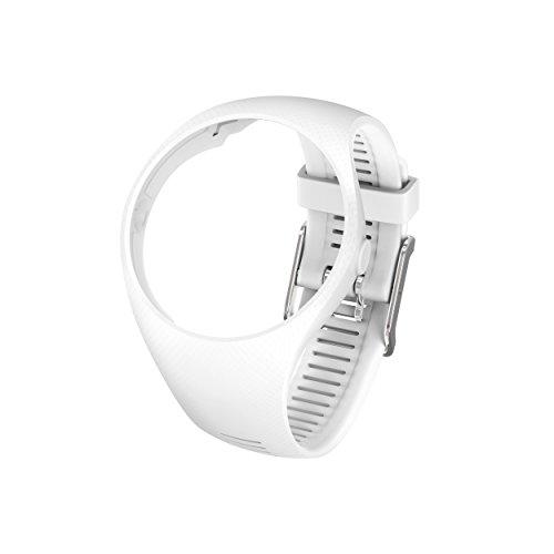 Polar Unisex– Erwachsene M200 Wechselarmband, weiß, M/L