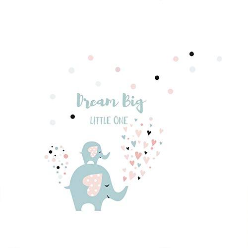 Scrox. 1pcs Articles ménagers Dream Big Little One Sticker Mural Amour éléphant Autocollant Chambre Enfant Chambre Papier Peint