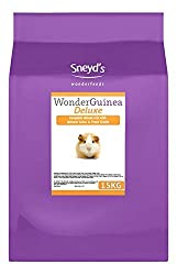 High quality item. Genuine product Containing natural grass, cereals, extruded biscuits and a g Sneyds Guinea Pig De-Luxe 15kg