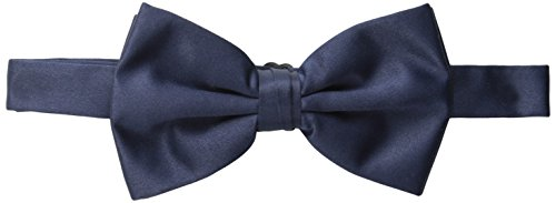 Stacy Adams Men's Satin Solid Bow Tie, Navy, One Size