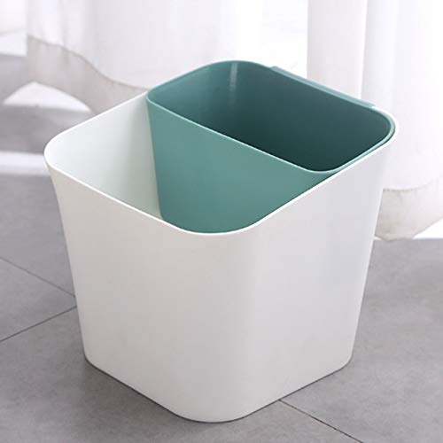 Xcwsmdq Mülleimer Trocken- und Nass Trennung Trash Can Multifunktionale Haushalt Wohnzimmer Küche Dual-Use-Klassifizierung Badezimmer Trash Can Reinigungsmittel (Color : Green)