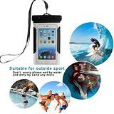 Universal Waterproof Case for iPhone 6S, 6, 6 Plus, 5, 5S, 4, Galaxy S6 S5, Note 4, LG G4, HTC etc- Best Water Proof, Dustproof, Snowproof Pouch Bag with Comb (Black)