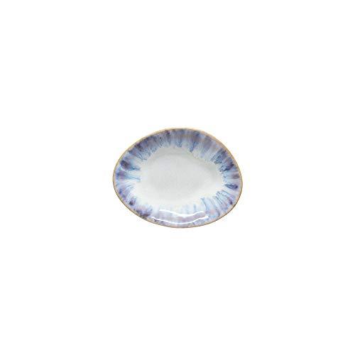 Costa Nova Colección Brisa Mini Plato Oval, 11 CM, Gres (Ria Blue)