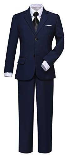 Boys Suit Ring Bearer Outfit for Boy First Communion Kids Navy Suits Size 10