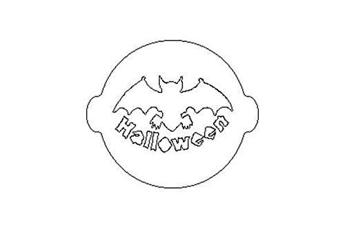 Silikomart 70.021.99.0060 ACC 040 Halloween sjabloon voor decoratie van de taart kunststof/polypropyleen wit 1 x 24,5 x 31,5 cm
