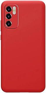 Case For Oppo A16 Silicone Case Protector Camera Liquid Soft TPU Slim Back Cover (Red)