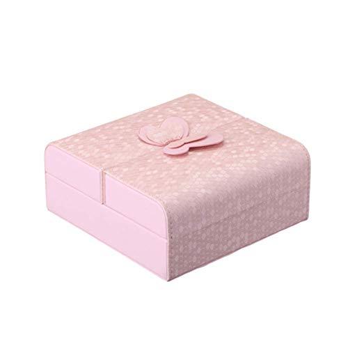 yunyu Estuche para Joyas de Viaje Estuche para Joyas de Viaje Estuche para Joyas multifunción Estuche para Joyas Grande Cajas de Regalo para joyería Exhibición de Joyas Rosa