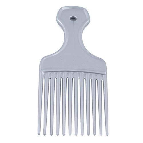 Kissherely 1Pc Afro Outils De Coiffage Insérez Cheveux Peigne Peigne À Dent Longue Brosse À Cheveux (Argent)