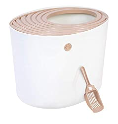 A white top entry litter box by Iris