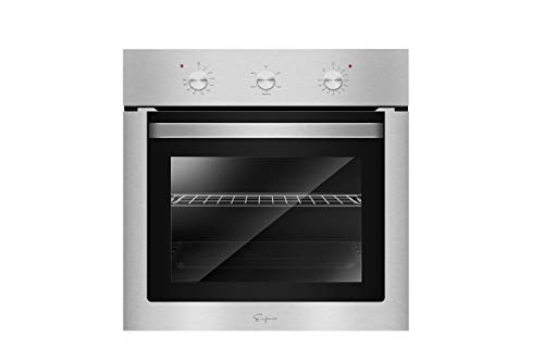 Empava 24″ Electric Single Wall Oven with Basic Broil/Bake Functions Mechanical Knobs Control in Stainless Steel, XA01