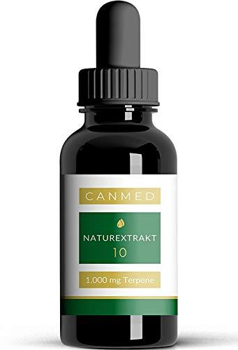 CANMED® NATUREXTRAKT 10 | Mit 1.000 mg konzentrierten Terpenen | Deutsche Verkehrsfähigkeitsbescheinigung | Hanfsamenöl mit Terpenen | Omega 3-6-9, Vitamine, Mineralien, Antioxidantien | 10 ml