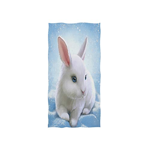 MNSRUU Handtuch für das Badezimmer, mit weihnachtlichem Kaninchen, weich, 76 x 38 cm