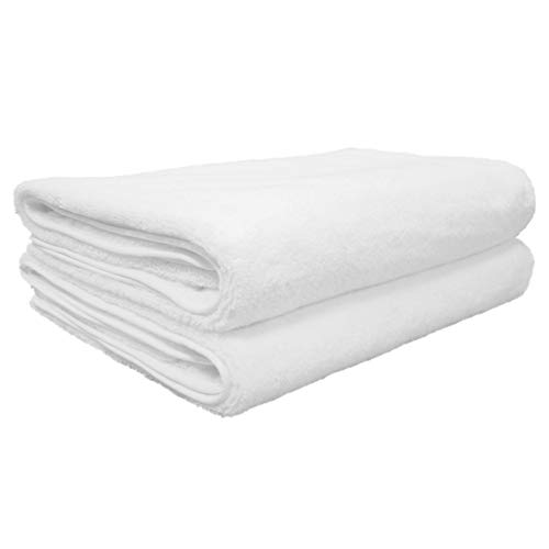 Polyte Quick Dry Lint Free Microfiber Bath Sheet, Set of 2 (White, 35x70)
