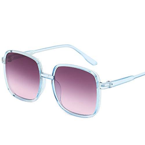 Sunglasses Gafas de Sol de Moda Gafas De Sol Cuadradas Vintage para Hombres Y Mujeres De Marca De Lujo Gafas De Sol con