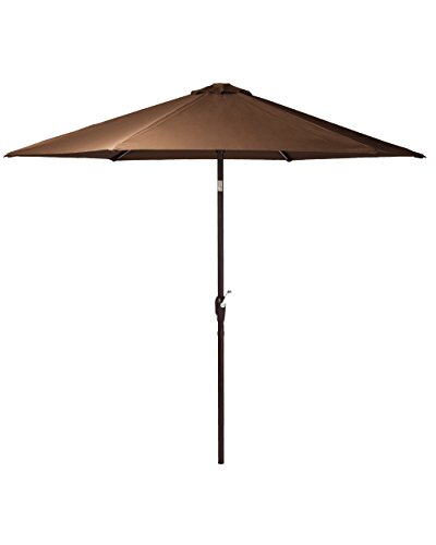 Patio Sense Grayton 9' LED Lighted Illuminated Patio Umbrella for Garden, Deck, Poolside, Balcony