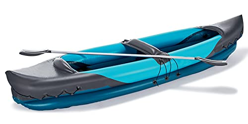 EPROSMINInflatable Kayak 2 Person Boat - 10.6 Ft Tandem Kayak Set with Aluminum Oars Paddles Fishing Dinghy Hovercraft 1,2 or 3 Person BoatCanoe Raft Kayaks for Adults and Kids Youth Kayak