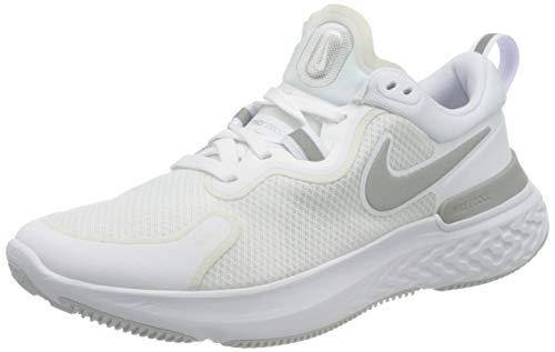 Nike Wmns React Miler, Zapatillas de Running Mujer, Color Blanco Metalizado y Plateado, 37.5 EU