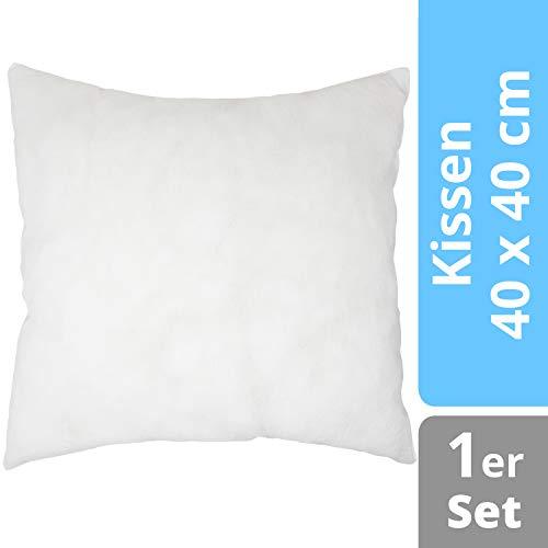 Home Edition Füllkissen 40 x 40 cm | Füllmaterial Kissen Inlett | Polyester Mikrofaser