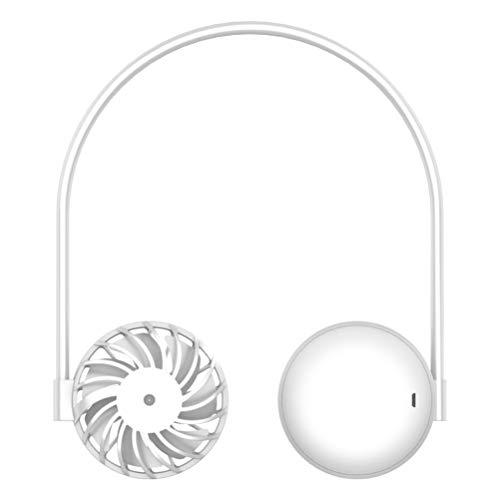 XOYZUU Ventilador de collar con manos libres, ventilador de cuello de 2400 mAh, funciona con pilas, ventilador USB personal, portátil, para casa, oficina, viajes, deportes al aire libre
